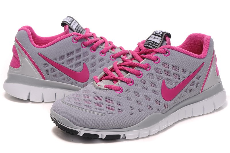 Nike Free TR Fit Womens Training Shoes Grey Pink