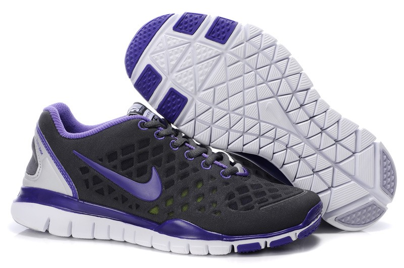 Nike Free TR Fit Womens Training Shoes Grey Purple