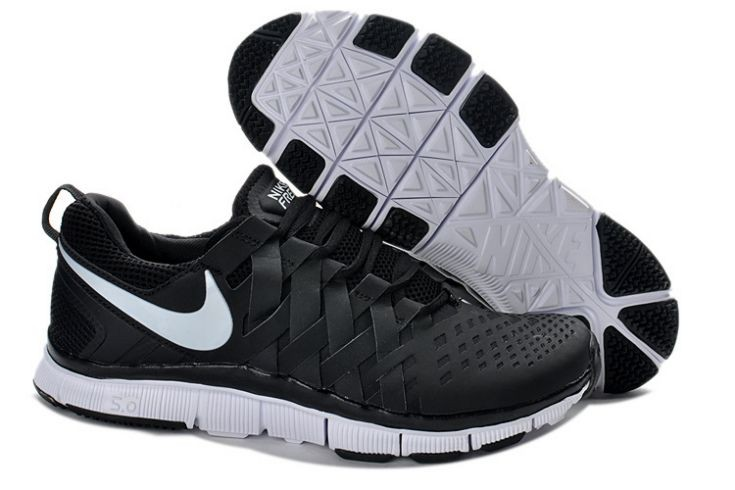 Nike Free Trainer 5.0 V4 Mens Black White Training Shoes