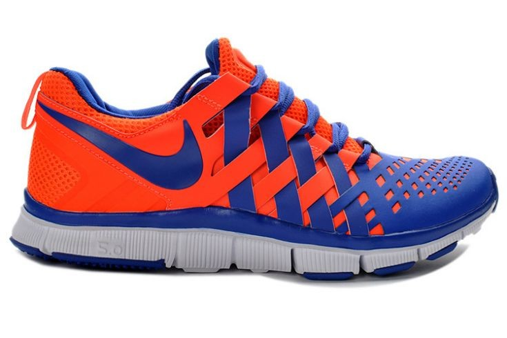 Nike Free Trainer 5.0 V4 Mens Crimson Hyper Blue Training Shoes