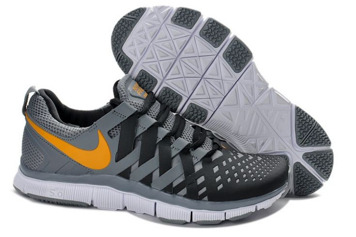 Nike Free Trainer 5.0 V4 Mens Grey Black Orange Training Shoes