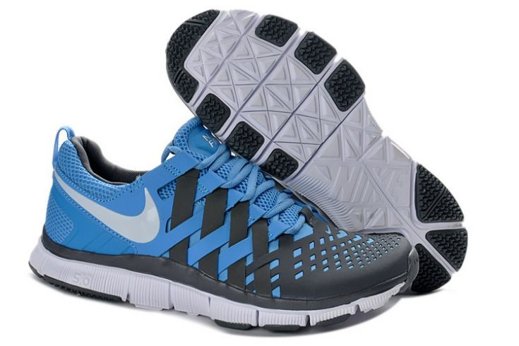 Nike Free Trainer 5.0 V4 Mens University Blue White Reflect Silver Training Shoes