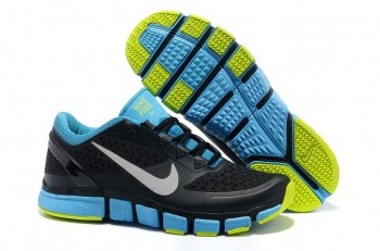 Nike Free Trainer 7.0 Men's Training Shoe Black Reflective Silver Blue Glow Volt