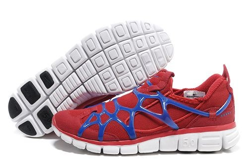 Nike Kukini Free Mens Running Shoes Sport Red Varsity Royal White