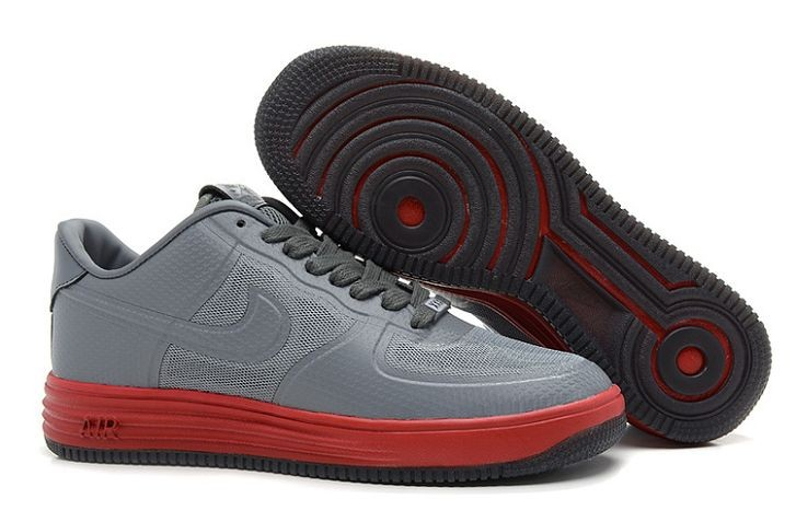 Nike Lunar Force 1 Fuse NRG Mens Shoes Grey Red
