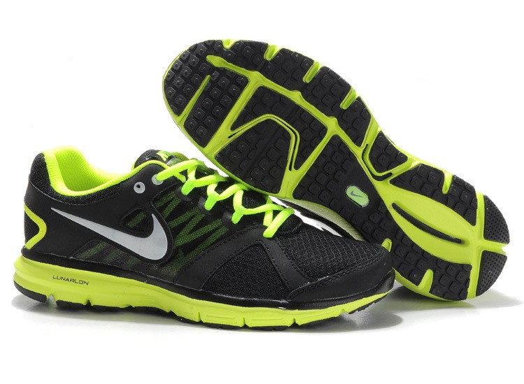 Nike Lunar Forever 2 Mens Black Green Running Shoes