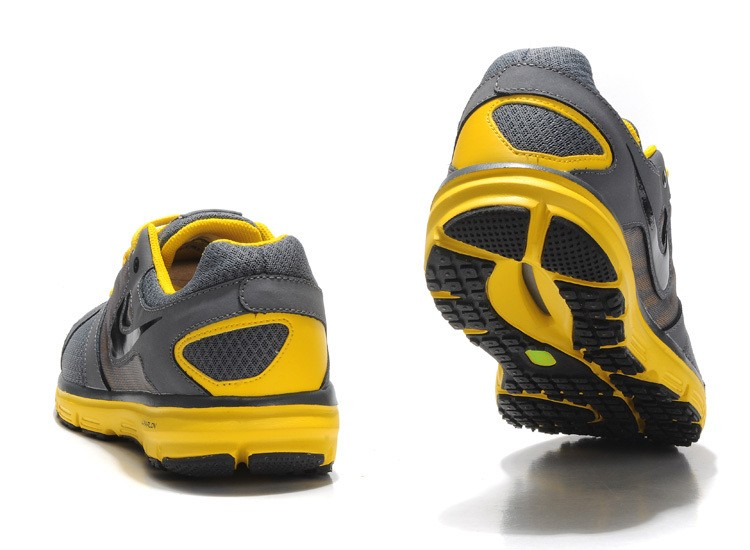 Nike Lunar Forever 2 Mens Carbon Grey Yellow Running Shoes
