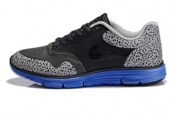 Nike Lunar Safari Fuse Mens Trainers Black Blue