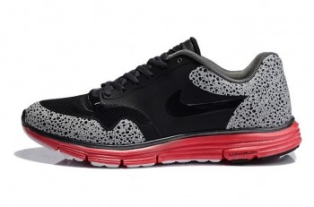 Nike Lunar Safari Fuse Mens Trainers Black Red
