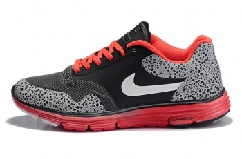 Nike Lunar Safari Fuse Mens Trainers Black White Red