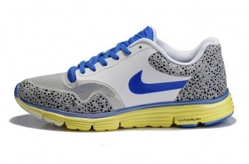 Nike Lunar Safari Fuse Mens Trainers White Blue Volt