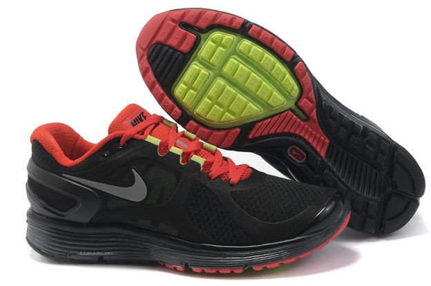 Nike LunarEclipse+ 2 Men's Running Shoes Black University Red Wolf Grey Silver