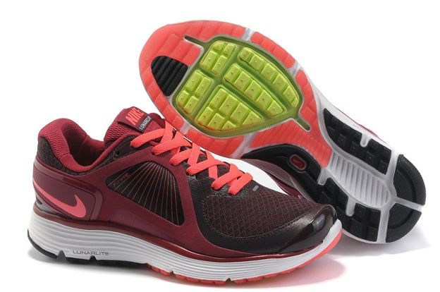 Nike LunarEclipse+ Women's Running Shoes Brown Gym Red Total Orange