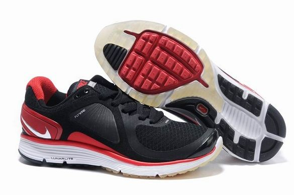 Nike LunarEclipse Men\'s Running Shoes Black Varsity Red Silver