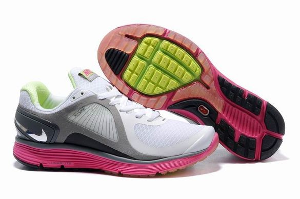 Nike LunarEclipse Men\'s Running Shoes White Pink Silver