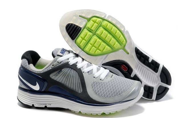 Nike LunarEclipse Men's Running Shoes Wolf Grey Navy Silver