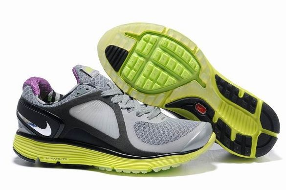 Nike LunarEclipse Men\'s Running Shoes Wolf Grey Neon Silver