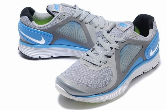 Nike LunarEclipse Men\'s Running Shoes Wolf Grey Photo Blue Silver