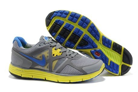 Nike LunarGlide+ 3 Men's Running Shoes Grey Volt Royal