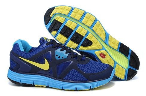 Nike LunarGlide+ 3 Men's Running Shoes Wet Blue Volt