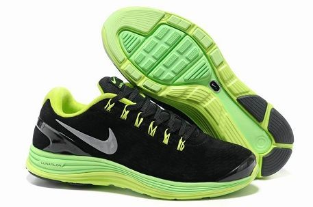 Nike LunarGlide+ 4 Premium Men's Running Shoes Suede Anthracite Volt Silver