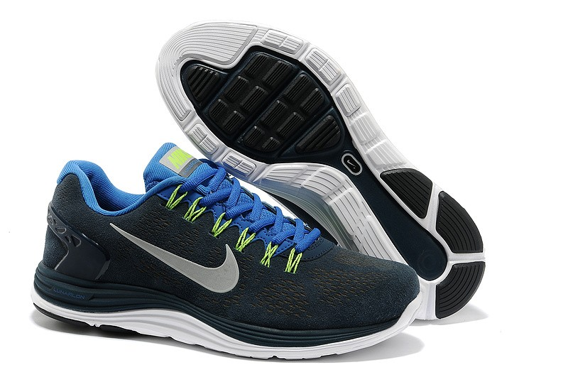 Nike LunarGlide Plus 5 Mens Darkblue Royalblue Running Shoes