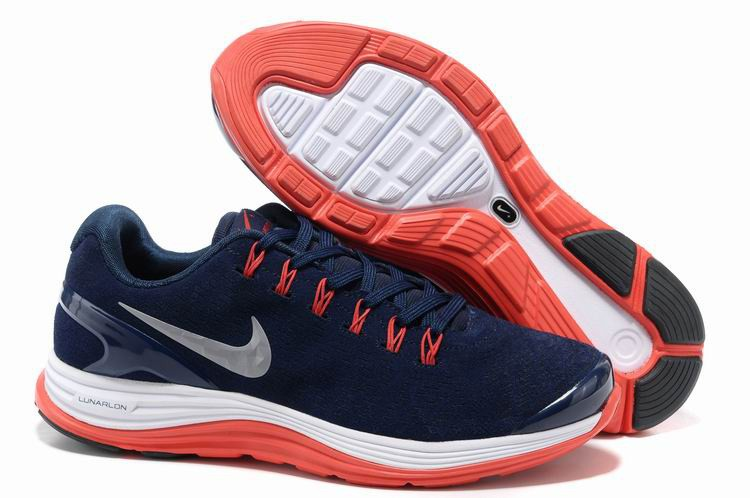 Nike Lunarglide 4 Mens Running Shoes Dark Blue Red