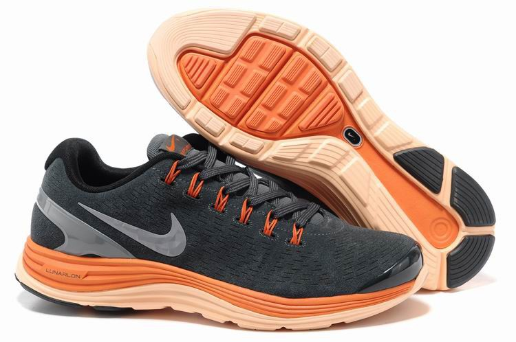 Nike Lunarglide 4 Mens Running Shoes Midnight Fog Reflective Silver Orange