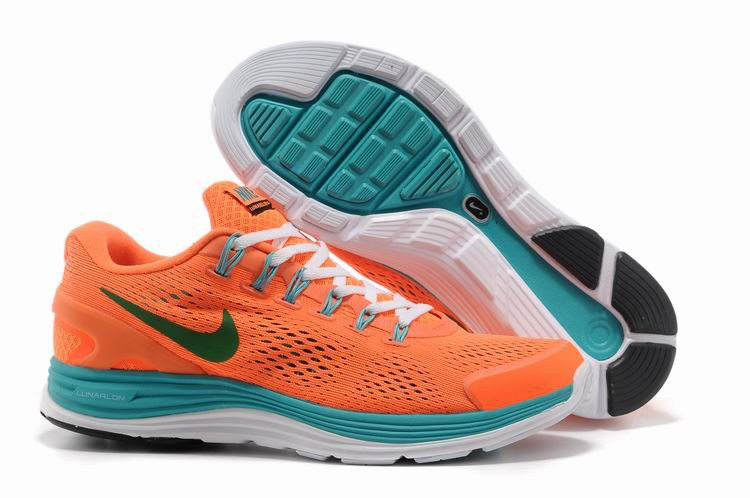 Nike Lunarglide 4 Mens Running Shoes Orange Jade Grass Green