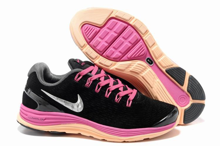 Nike Lunarglide 4 Womens Running Shoes Black Peachblow