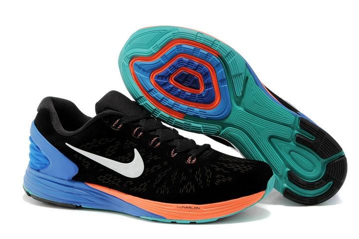 outlet store 6db6d 5335c ... promo code for nike lunarglide 6 anti fur mens shoes black orange blue  f7500 f68fd