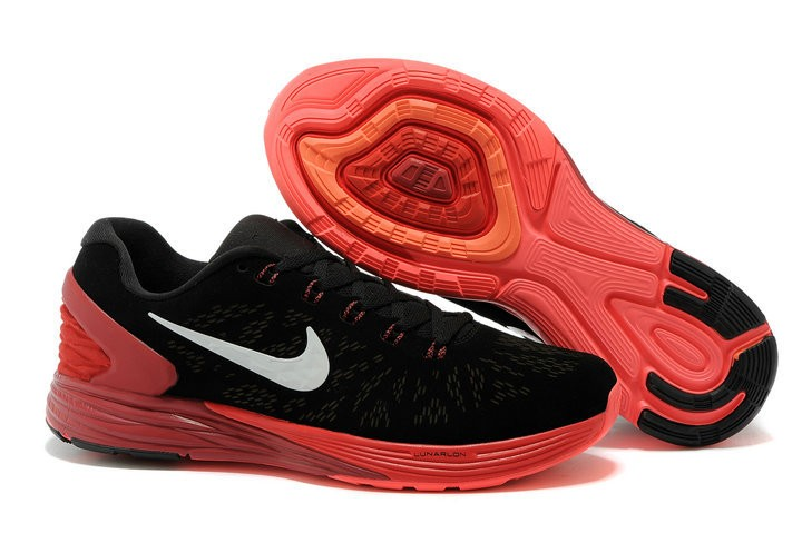 Nike Lunarglide 6 Anti-Fur Mens Shoes Black Red