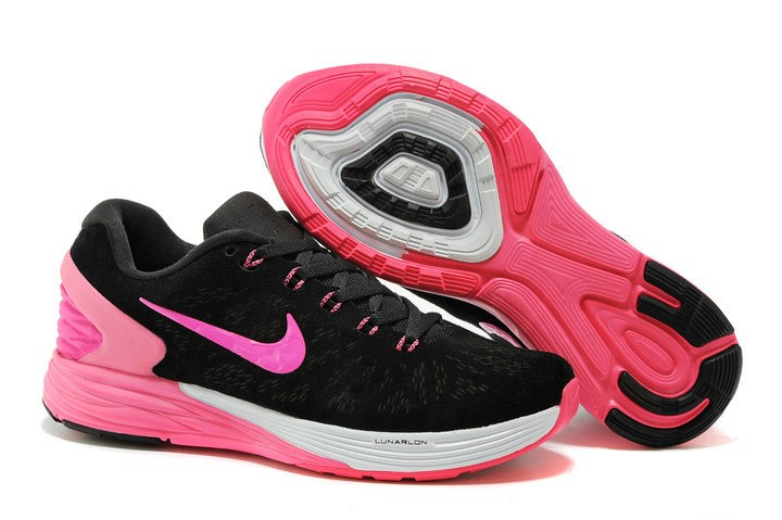 Nike Lunarglide 6 Anti-Fur Womens Shoes Black Pink