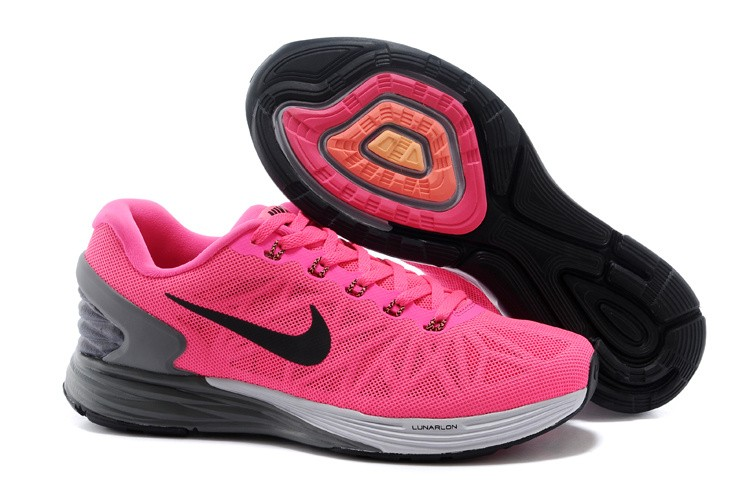 Nike Lunarglide 6 Womens Running Shoes Peachblow Grey Black