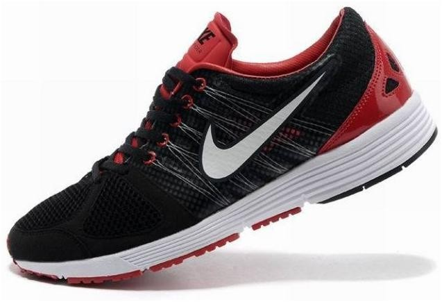 Nike Lunarspider LT+ 2 Mens Black White Red Running Shoes