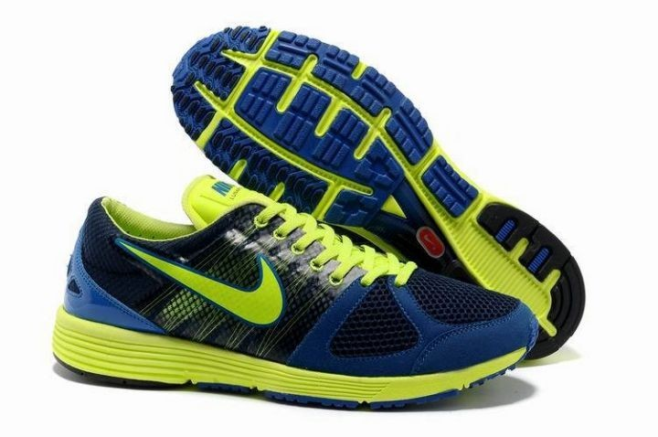 Nike Lunarspider LT+ 2 Mens Midnight Navy Volt Running Shoes