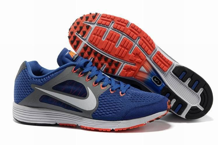 Nike Lunarspider LT+ 2 Mens Royal Blue Grey Running Shoes