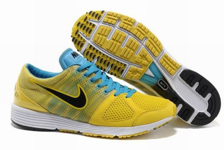Nike Lunarspider LT+ 2 Mens Yellow Black Photo Blue Running Shoes