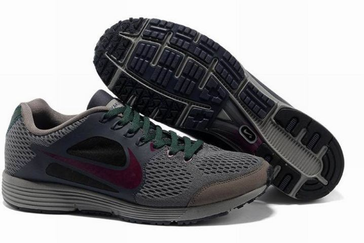 Nike Lunarspider LT+ 3 Mens Dark Grey Pink Olive Running Shoes