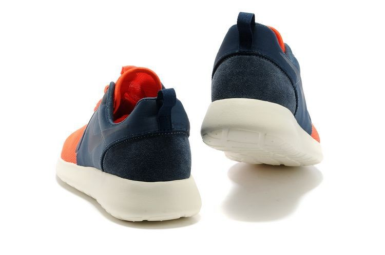 Nike Roshe Run HYP QS Mens Runinng Shoes Orange Dark Blue