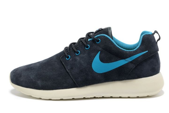 Nike Roshe Run Mens Running Shoes Black Blue White