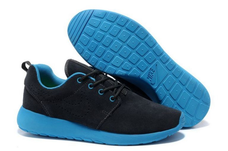 Nike Roshe Run Mens Running Shoes Black Blue