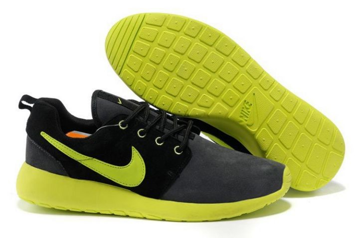 Nike Roshe Run Mens Running Shoes Black Gray Green