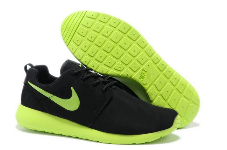 Nike Roshe Run Mens Running Shoes Black Green
