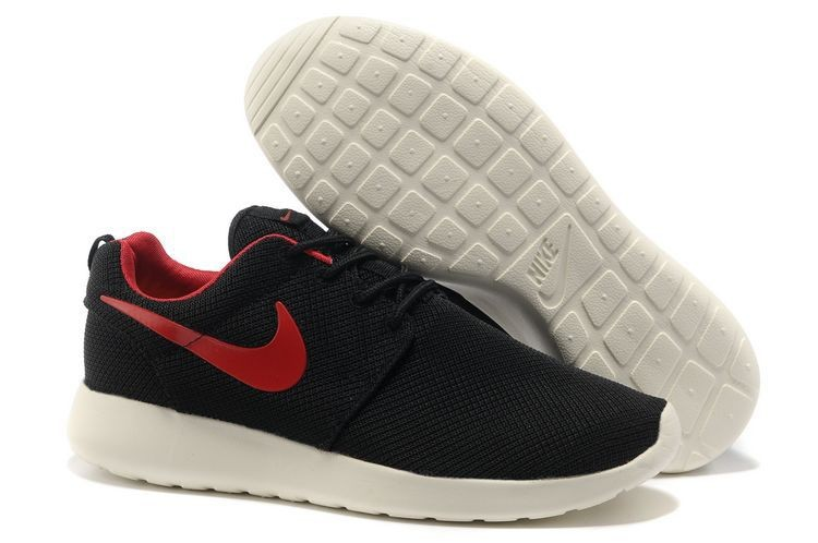 Nike Roshe Run Mens Running Shoes Black White Red