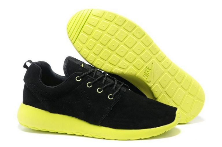 Nike Roshe Run Mens Running Shoes Black Yellow