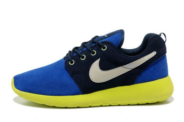Nike Roshe Run Mens Running Shoes Blue Black Green White