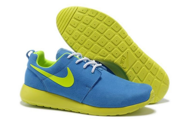 Nike Roshe Run Mens Running Shoes Blue Janue