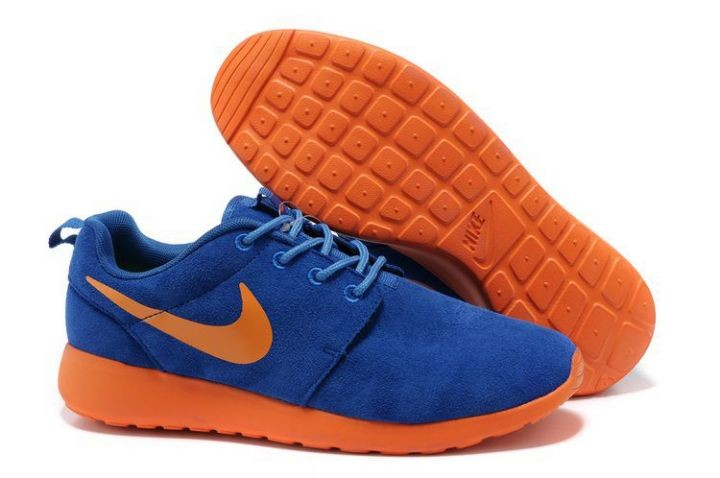 Nike Roshe Run Mens Running Shoes Blue Marine Orange