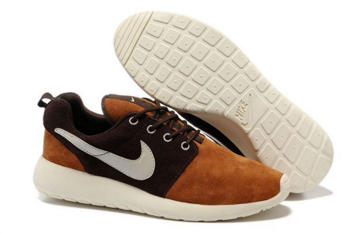 Nike Roshe Run Mens Running Shoes Brown White